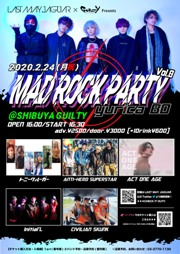 LAST MAY JAGUAR×GUILTY Presents「MAD ROCK PARTY Vol.8~yurica BD~」""